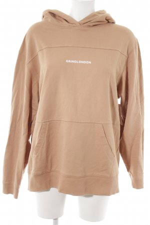 Capuchon sweater beige casual uitstraling
