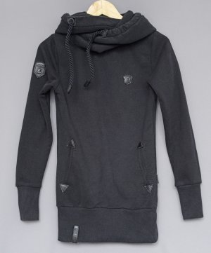 Naketano Hooded Sweater black cotton
