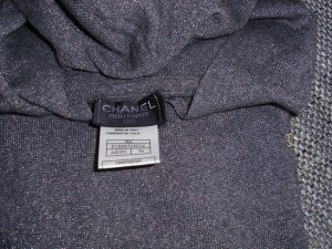 Chanel Hooded Sweater silver-colored-light grey mixture fibre