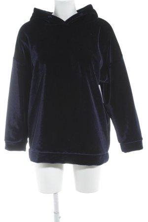 Maglione con cappuccio blu scuro stile casual