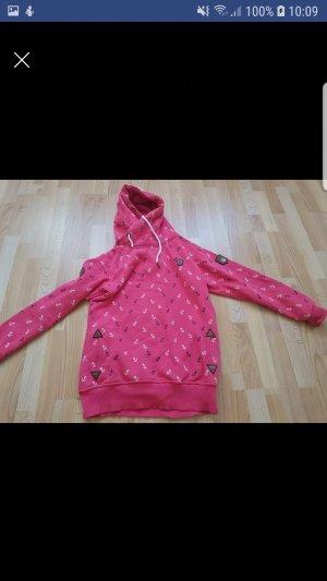 Jersey con capucha rosa