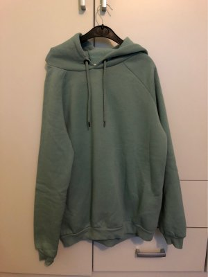 Pull à capuche turquoise-vert menthe