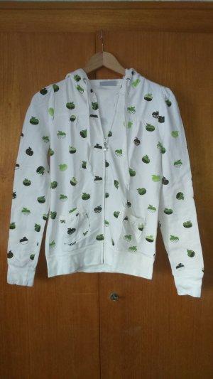Clockhouse Maglione con cappuccio bianco sporco-verde Cotone