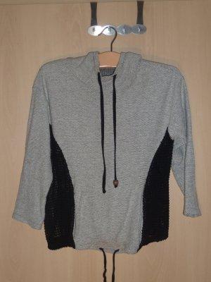 Hooded Sweater oatmeal-black