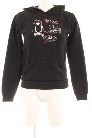 Jersey con capucha estampado temático look Street-Style