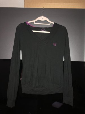 Unlimited Capuchon sweater zwart-paars