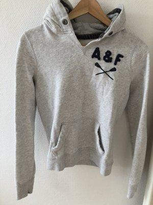 Abercrombie & Fitch Maglione con cappuccio grigio chiaro-blu scuro