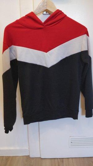 SheIn Jersey con capucha multicolor