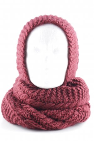 Hooded Scarf bordeaux cable stitch casual look