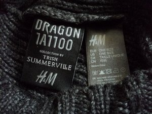 Kapuzenschal H&M Kollabo Trish Summerville/DragonTattoo onesize