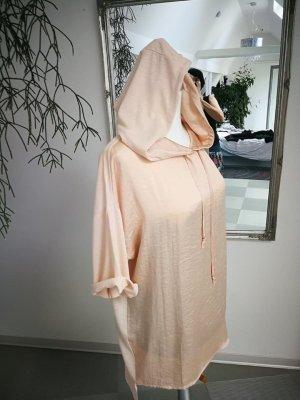 Zara Camicia con cappuccio albicocca-salmone Tessuto misto