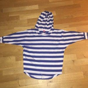 FitZ Gestreept shirt wit-blauw