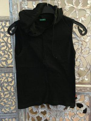 Benetton Top à capuche noir coton