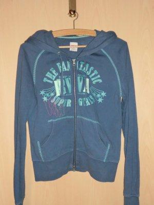 Only Camicia con cappuccio blu fiordaliso-turchese Cotone