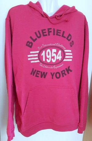 Camicia con cappuccio rosa-rosso lampone Cotone