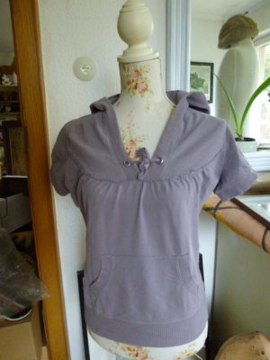 H&M Sport Hooded Shirt grey lilac