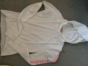 Abercrombie & Fitch Hooded Shirt white-pink