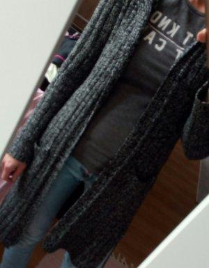 Colloseum Gilet long tricoté noir-blanc acrylique