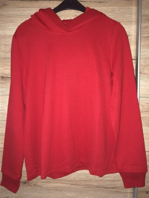 s.Oliver Hooded Sweatshirt red polyester