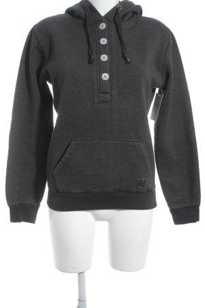 Kapuzensweatshirt grau schlichter Stil