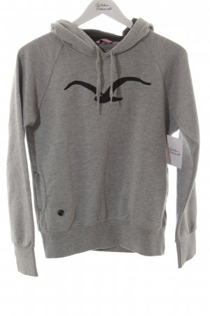 Kapuzensweatshirt hellgrau-schwarz Casual-Look