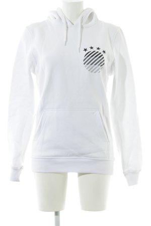 Kapuzensweatshirt platzierter Druck Casual-Look