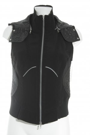 Hooded Vest black athletic style