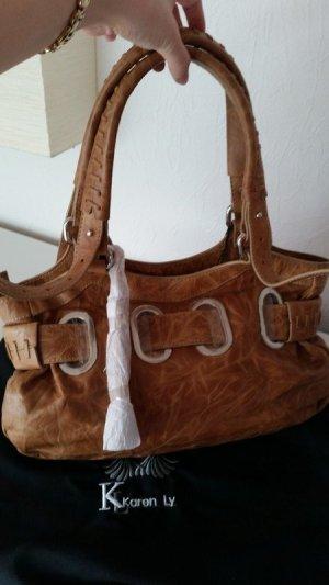Karen Ly Handbag cognac-coloured leather