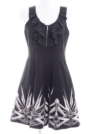 KAREN MILLEN A-Linien Kleid abstraktes Muster Elegant