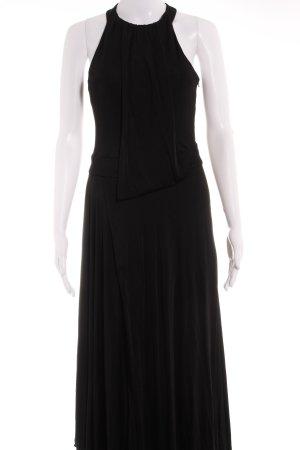 KAREN MILLEN Abendkleid schwarz Stofflagen-Detail