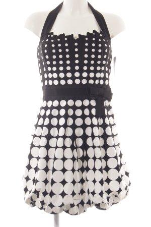 KAREN MILLEN Abendkleid schwarz-weiß Punktemuster 50ies-Stil