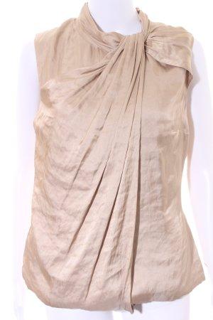 KAREN MILLEN ärmellose Bluse beige Elegant