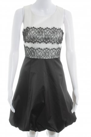 KAREN MILLEN Ballonkleid schwarz-wollweiß Elegant