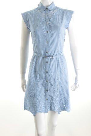 KAREN MILLEN Blusenkleid weiß-blau Streifenmuster Casual-Look