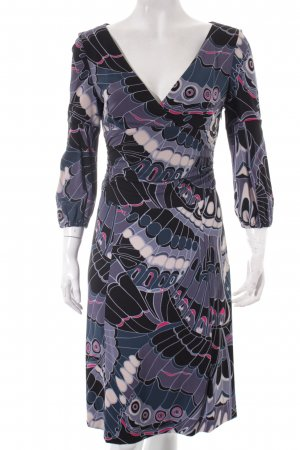 KAREN MILLEN Cocktailkleid schwarz-grau abstraktes Muster Party-Look