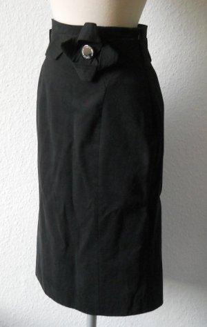Karen Millen Designer Bleistiftrock Pencilskirt Rock schwarz Gr. UK 8 34 36