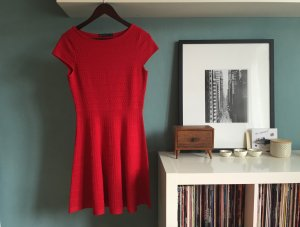 Karen Millen Designer Kleid Knit Dress Rot Red Bandage