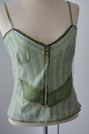 Karen Millen Designer Trägertop Top grün M UK 12 38 hippie goa Sommer Oberteil