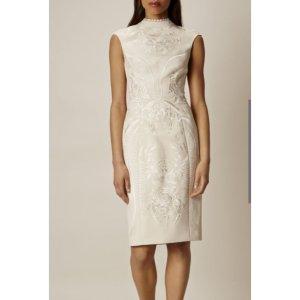 Karen Millen Etui Kleid beige Asia Style Gr 40(passt 38) neu