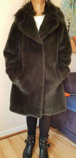 Karen Millen Faux Fur Mantel