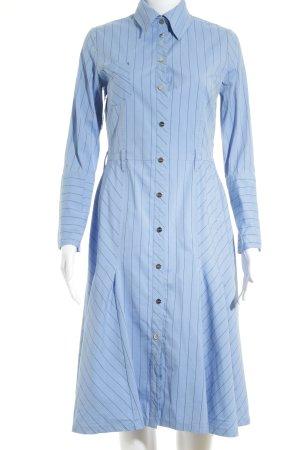 KAREN MILLEN Hemdblusenkleid himmelblau-dunkelblau Streifenmuster Elegant