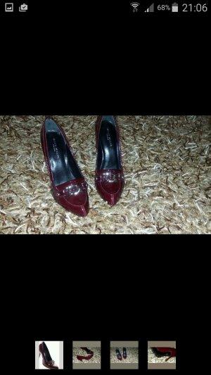 Karen Millen High Heel Pumps Schuhe Gr. 39 Rot Lackleder (S 3146)