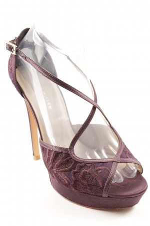 KAREN MILLEN High Heels braunviolett-hellbeige Party-Look