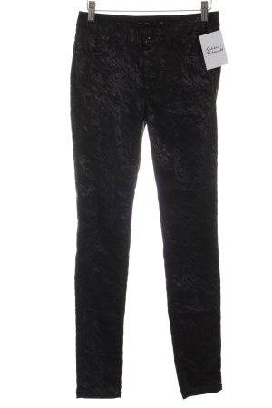 KAREN MILLEN Hoge taille broek zwart-grijs kleurvlekken patroon