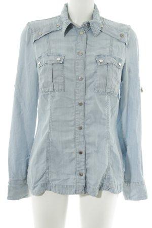 KAREN MILLEN Blouse en jean bleu clair style décontracté