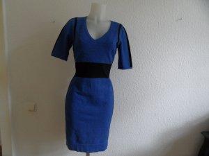 Karen Millen Kleid Blau / Schwarz Gr. 40 Neuwertig Luxus Pur!
