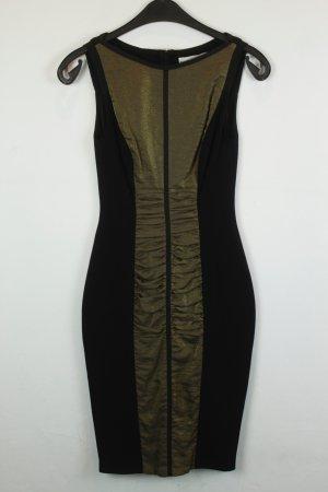 Karen Millen Kleid Cocktailkleid Gr. 34 schwarz gold