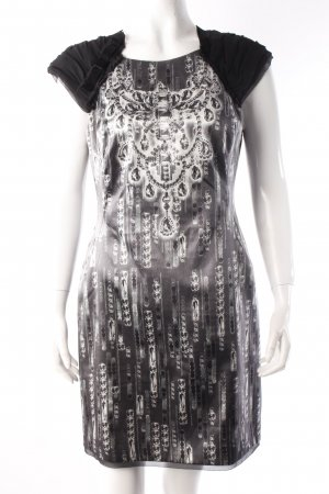 Karen Millen Kleid Diamantenprint schwarz