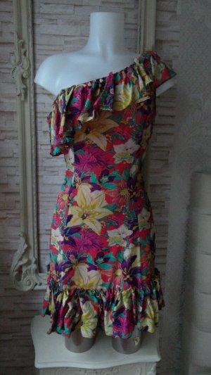 KAREN MILLEN Babydoll Dress red-bronze-colored silk