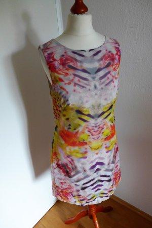 Karen Millen Kleid Seide Ethno gelb rot bunt Gr.36 (38) wie neu